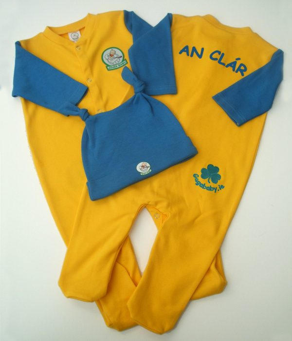 GagaBaby Clare GAA Babygro and Hat Set