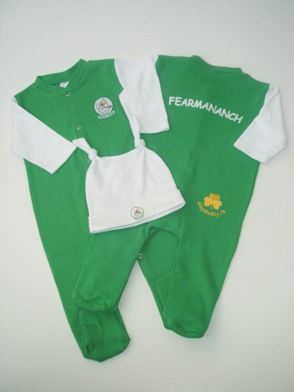 GagaBaby Fermanagh GAA Babygro and Hat Set