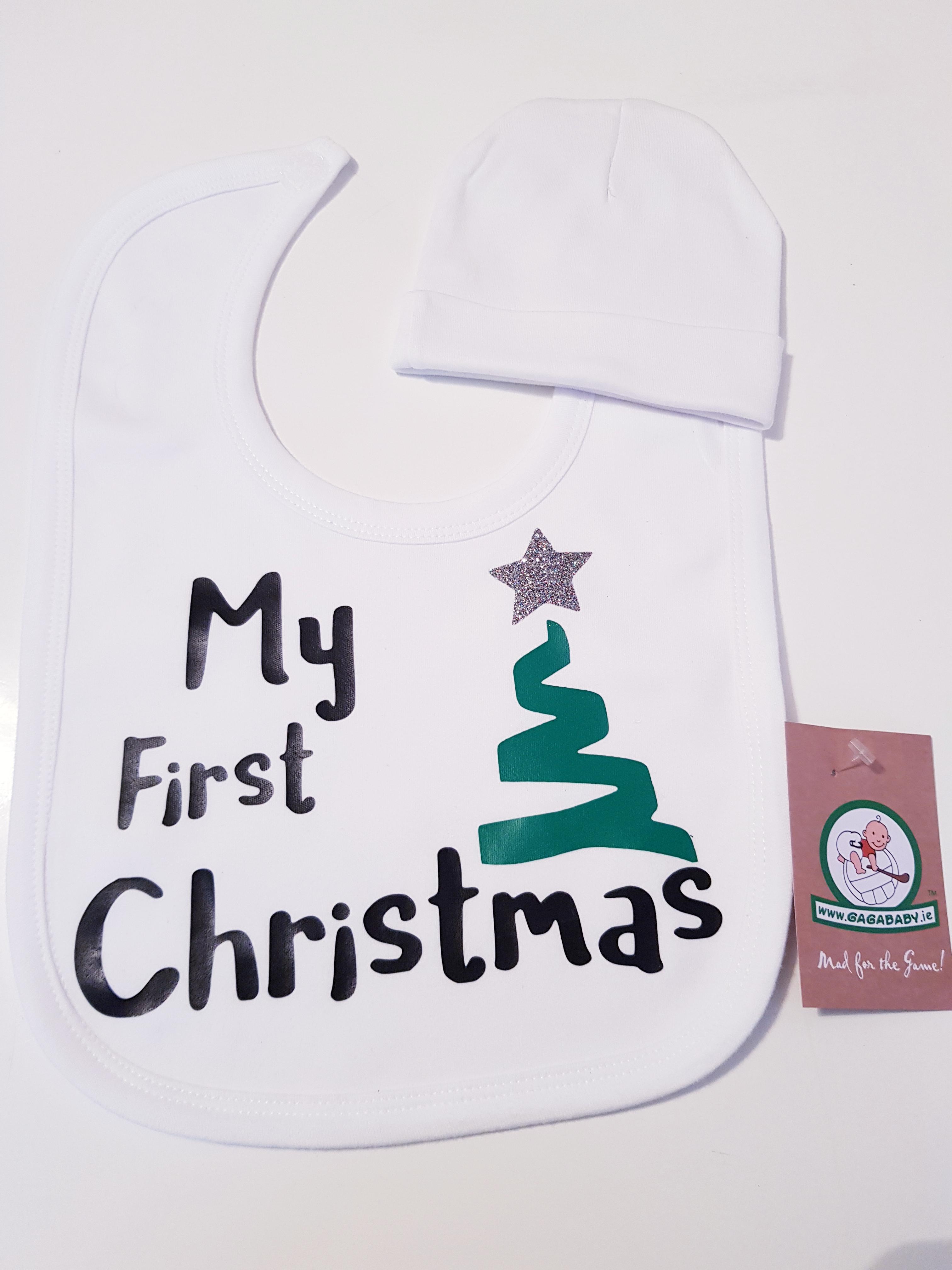 GagaBaby Christmas Tree Hat   Bib - % 7c5132586db