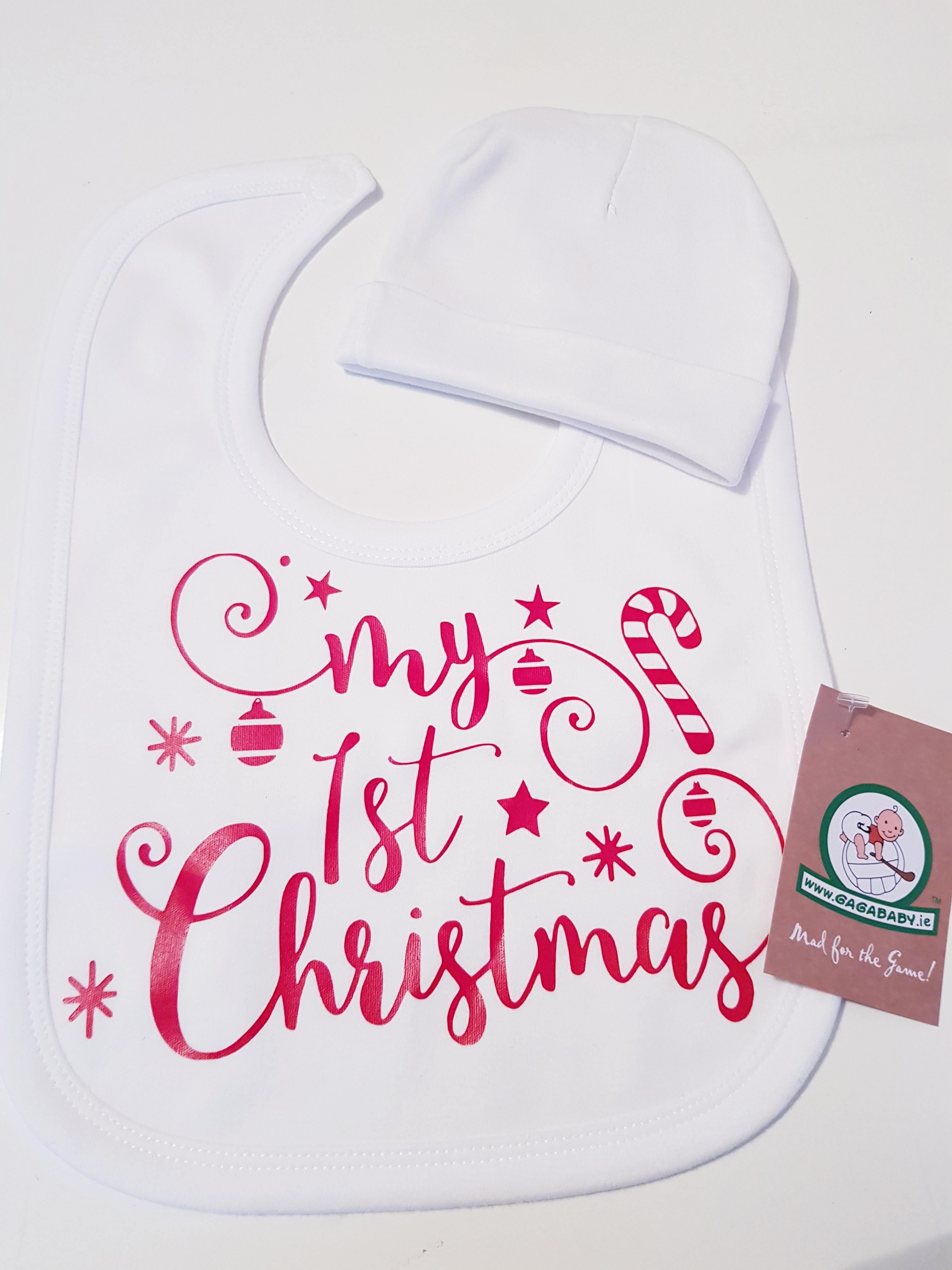 GagaBaby 1st Christmas Hat   Bib - % 2905caaedcd